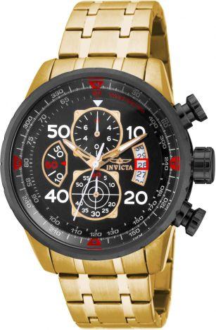 Relógio Invicta Aviator 17206 Cronografo 48mm Banhado Ouro 18k