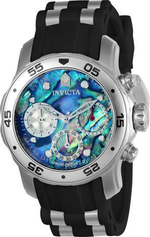 Relógio Invicta Pro Diver 24828 Cronografo Fundo Colorido 48mm Prata
