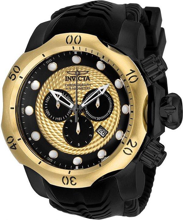 Relógio Invicta Venom Sea 20444 Cronografo 53.7mm Banhado Ouro 18k
