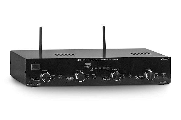 AMPLIFICADOR – RECEIVER PARA SOM AMBIENTE FRAHM – RD480 WIFI RESIDENCE - Amplificador WiFi - 4 canais Stéreo