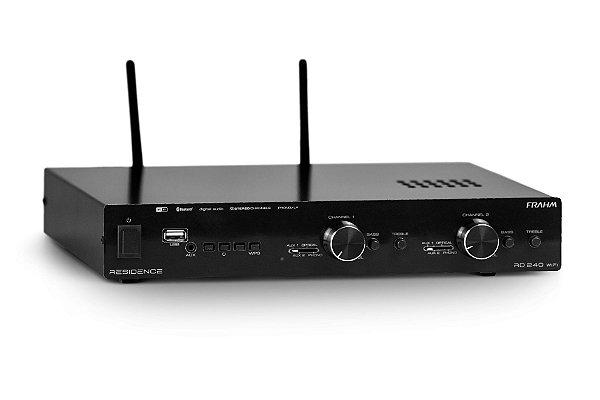AMPLIFICADOR – RECEIVER PARA SOM AMBIENTE FRAHM – RD240 WIFI RESIDENCE - Amplificador WiFi - 2 canais Stéreo