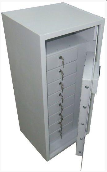 Cofre Digital Master File 100 C/ 8 Gavetas com Chave
