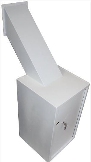 Cofre Boca de lobo C/ Funil Coletor Mod. Seven Com Chave Multiponto