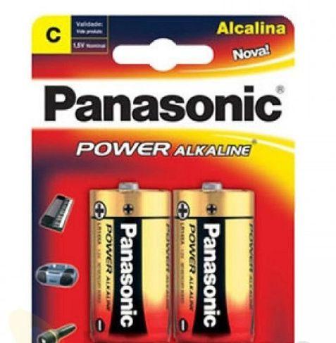 Pilha Alcalina Média C 1,5V c/2 Unidades - Panasonic