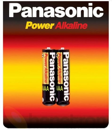 Pilha Alcalina Pequena AA Panasonic cartela com 2 Unid.