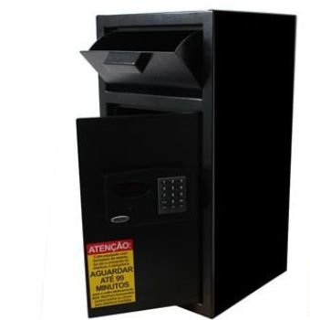 Cofre Boca de lobo P/ Malotes C/ Sistema de Retardo de Abertura - Smart Store 6800 Black