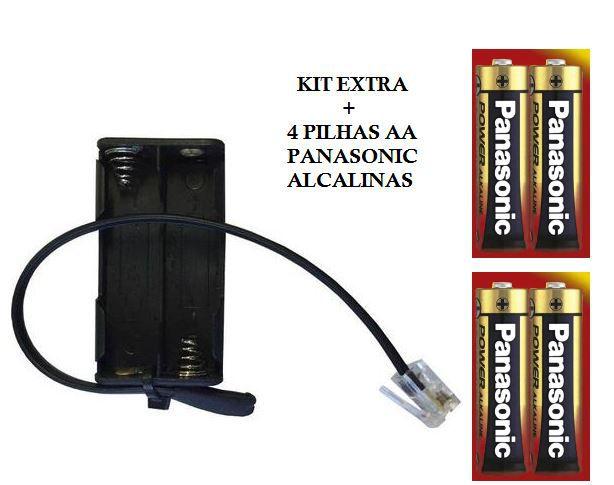 - Kit Extra de Pilhas Externas + 4 pilhas AA Panasonic Alcalinas