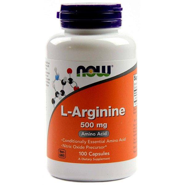 1f43cf5a5 Arginina 500 mg - 100 Cápsulas - Now Foods - Loja de Artigos ...