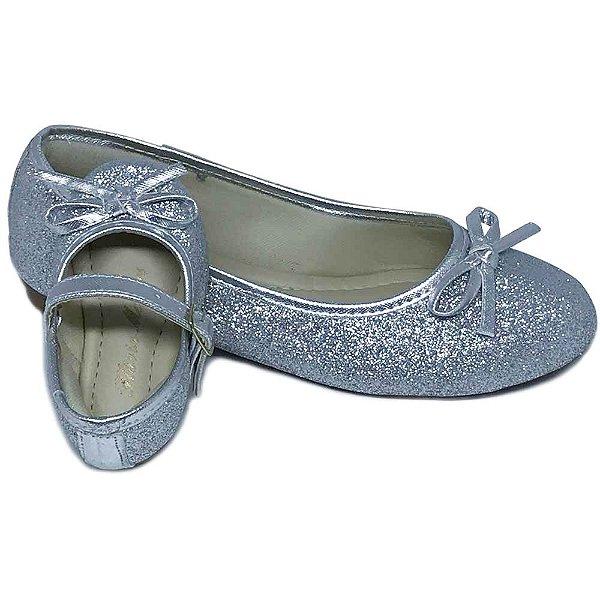 c5758f5f4 Sapatilha Mãe e Filha Glitter Prata Comfort com Lacinho - Atacado e ...