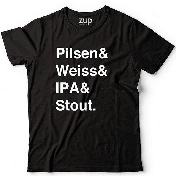 Camiseta Pilsen & Weiss & Ipa & Stout