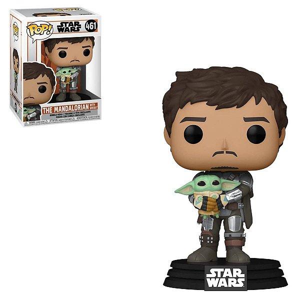 Funko Pop Star Wars 461 The Mandalorian w/ Grogu Baby Yoda