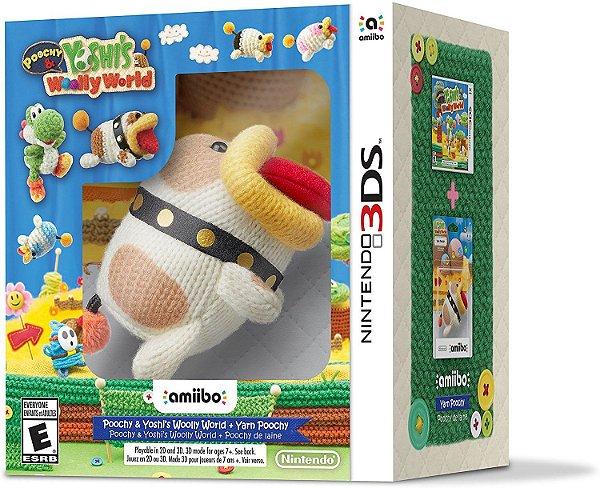 Yoshi's Woolly World + Yarn Poochy Amiibo Kit - 3DS