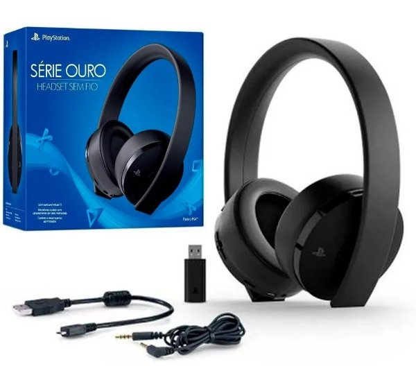 Sony Gold Ouro Wireless 7.1 Stereo Headset
