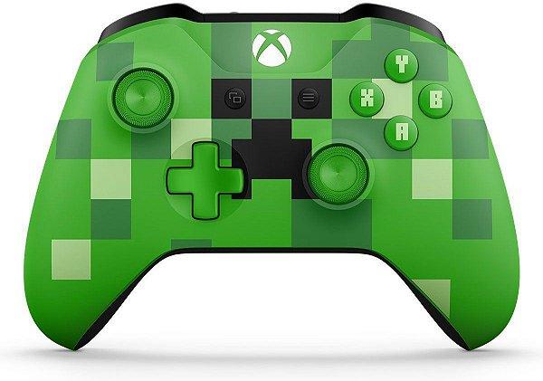 Controle Xbox One Wireless - Minecraft Creeper