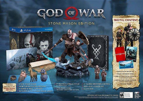 God of War Stone Mason's Edition Collectors - PS4