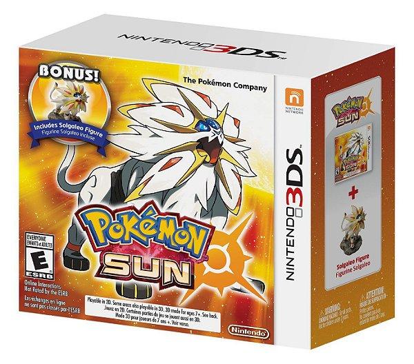 Pokémon Sun + Solgaleo Figure Limited - 3DS