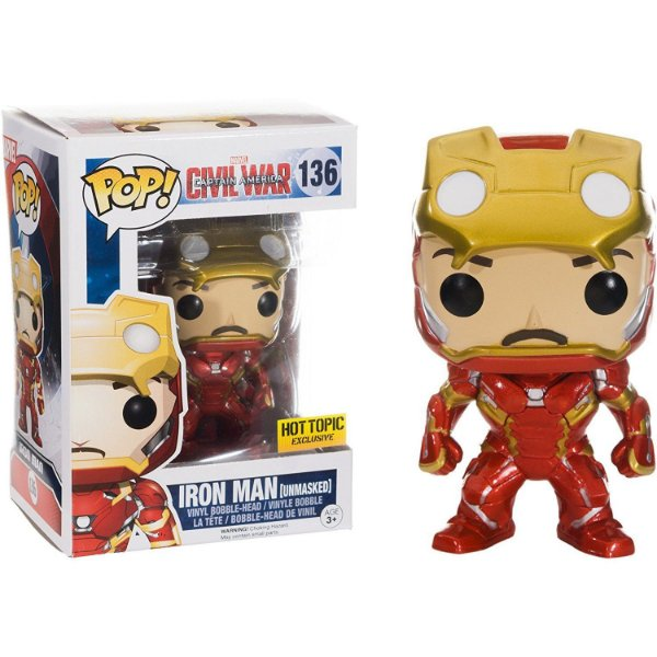 Funko Pop Marvel Civil War 136 Iron Man Unmasked
