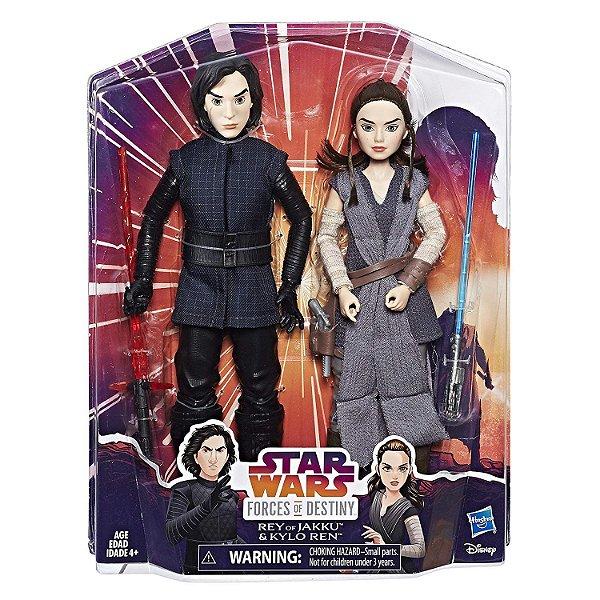Star Wars Forces of Destiny Rey e Kylo Ren