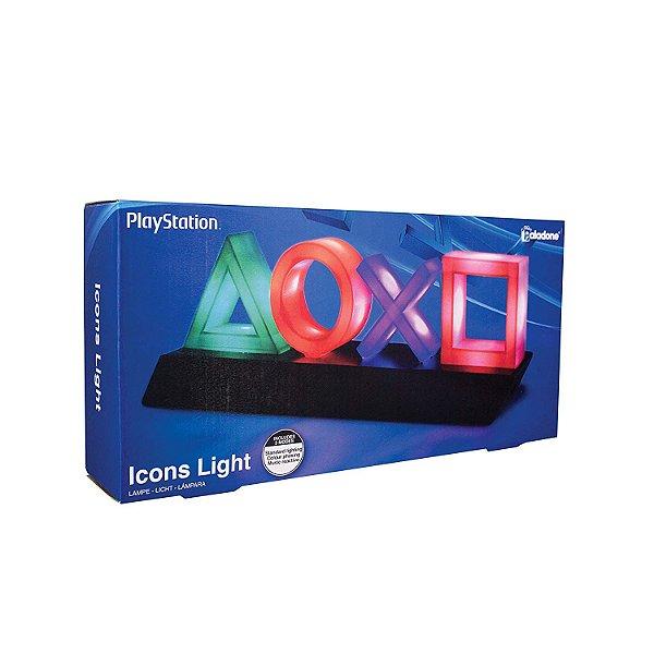 Luminária Playstation Icons Light - Paladone