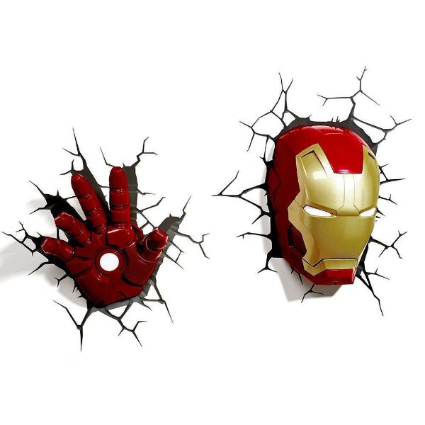 Luminárias Mascara + Mão Homem de Ferro Iron Man Light Fx