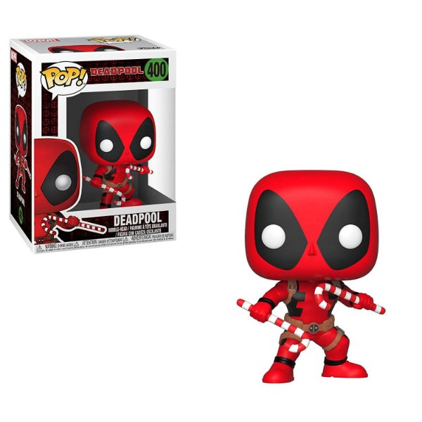 Funko Pop Marvel 400 Deadpool Holiday with Candy Canes