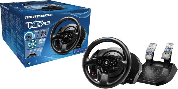 Volante c/ Pedais Thrustmaster T300RS - PS5/PS4/PS3/PC