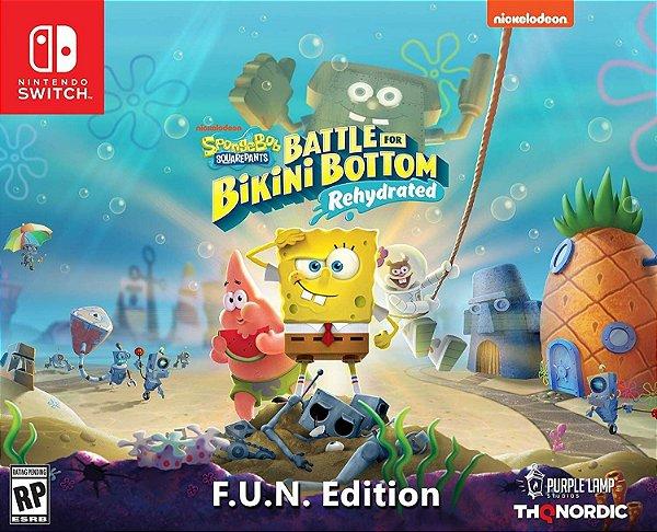 Spongebob Squarepants Battle for Bikini Bottom Rehydrated F.U.N. Edit. - Switch