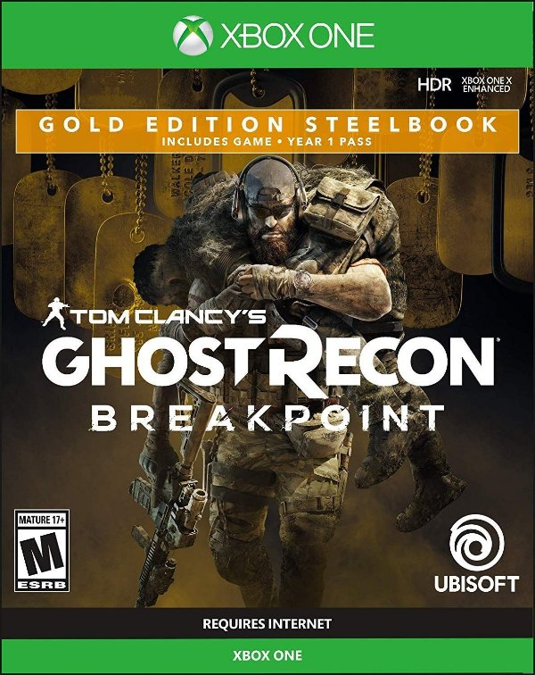 Tom C. Ghost Recon Breakpoint Gold Steelbook Edition - Xbox One