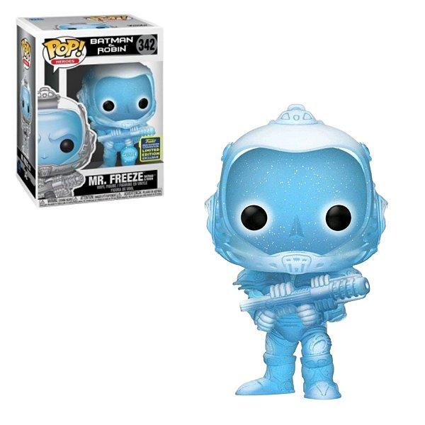 Funko Pop Batman e Robin 342 Mr. Freeze Glitter Sdcc 2020