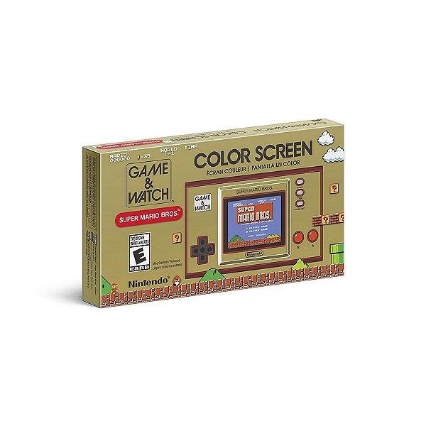Nintendo GAME & WATCH Super Mario Bros Portátil C/ Relógio