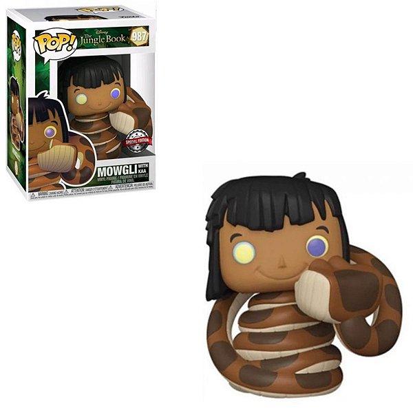 Funko Pop Mogli Jungle Book 987 Mowgli w/ Kaa