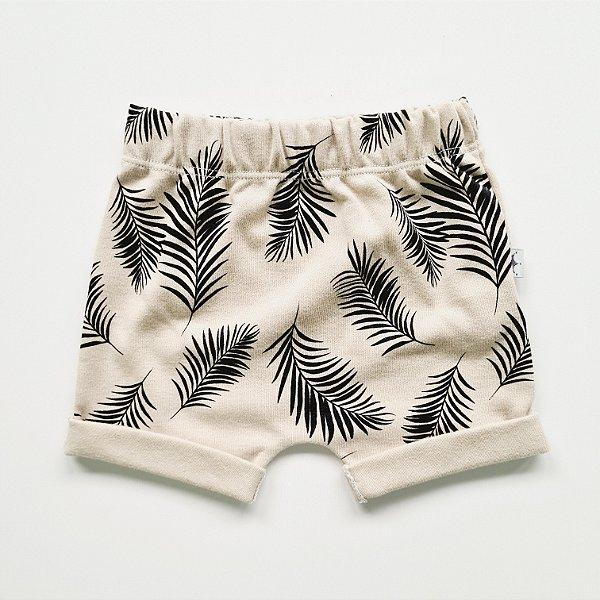 Shorts Folhas Caqui