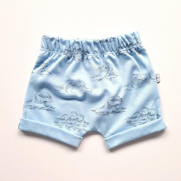 Shorts Ondas Azul