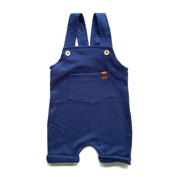 Jardineira Curta Azul Marinho