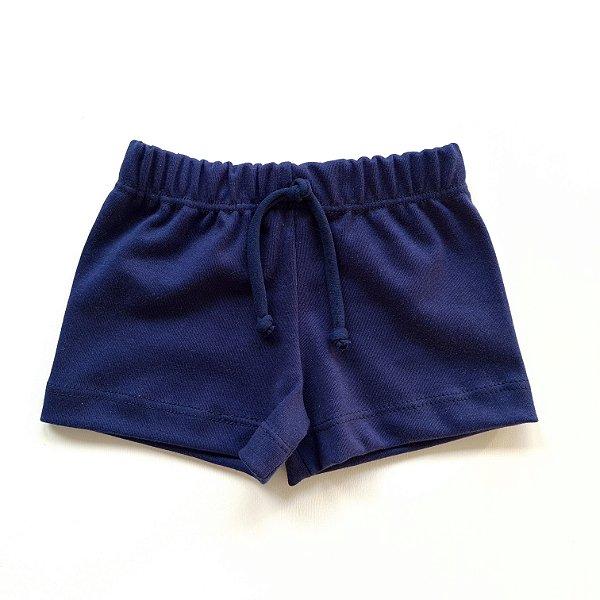 Shorts Básico Menina Azul Marinho