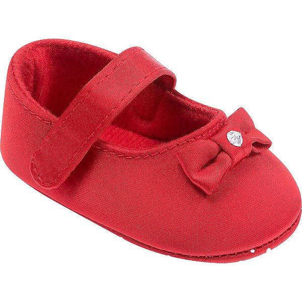 Sapatilha Bebê Laço Vermelho