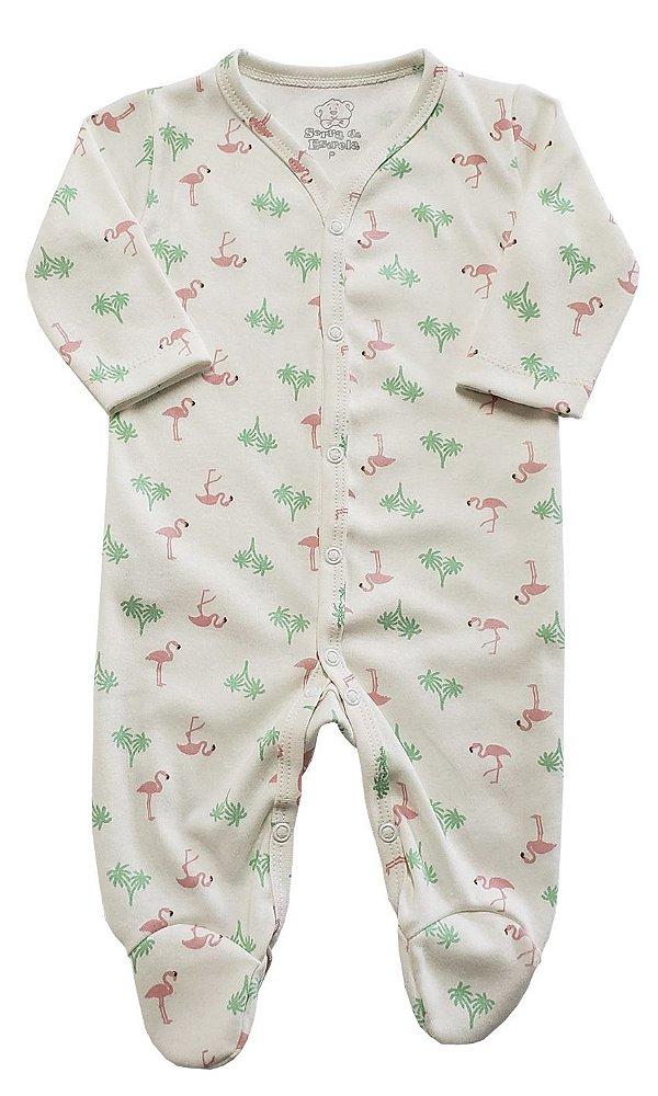 Macacão Flamingo c/ Pezinho