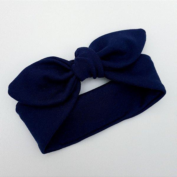 Faixa de Cabelo para Bebê Azul Marinho