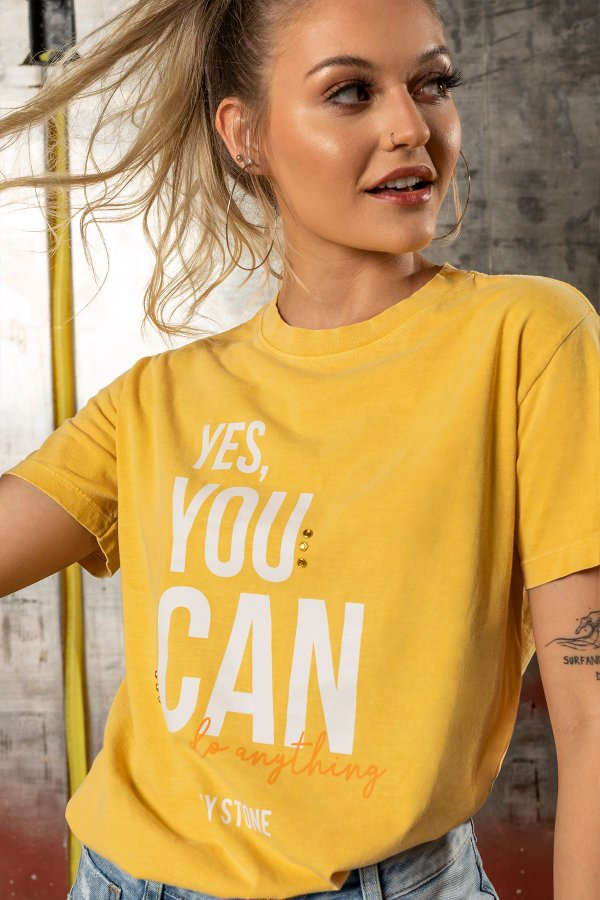 T-SHIRT STONE YES YOU CAN
