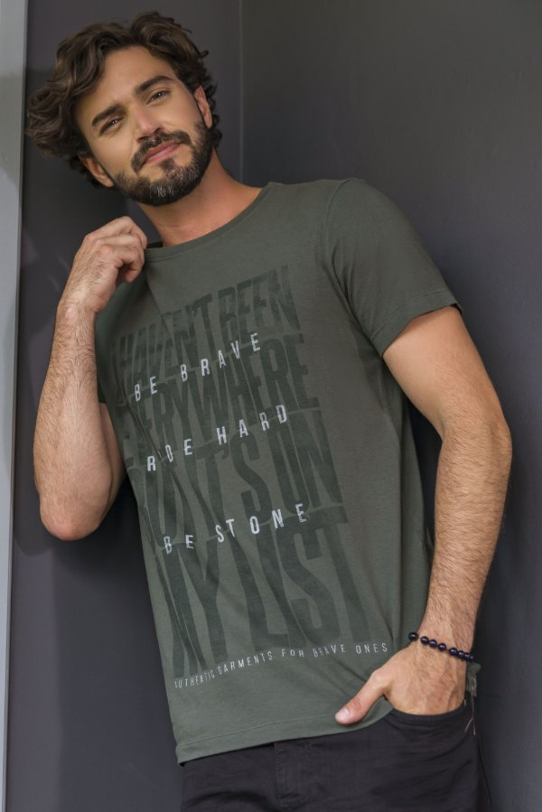 T-SHIRT ITS ON MY LIST - VERDE ESCURO