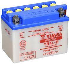 Bateria Yuasa YB4L-B |12V - 4Ah| Honda CC Dream100 (90/00), Sundown Scooter Yamaha (90/00), WS 50 Scooter (90/00)