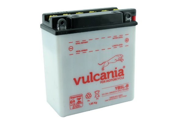 Bateria Vulcania YB5L-B 5Ah XTZ 125 Crypton Star Sky Zig 110