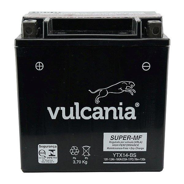 Bateria Vulcania YTX14-BS 12Ah DR 650 800 DL 1000 F800GS TRX