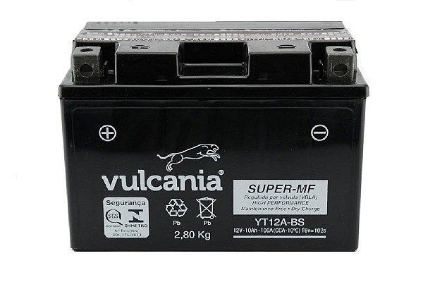 Bateria Vulcania YT12A-BS 10Ah Hayabusa Bandit 1250 GSX-R750
