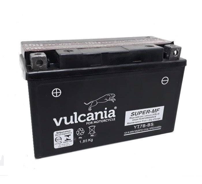 Bateria Vulcania YT7B-BS, TTR250, Daytona 675, Panigale, KLX400R, KLX400SR, DR-Z400