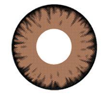 Lente de contato VAMPIRE MARROM com borda PRETA - BROWN VAMPIRE EFEITO MAIOR