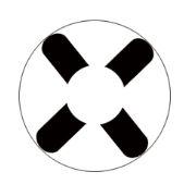 -SEM GRAU- Lente de contato BRANCA X - WHITE X HALLOWEEN