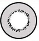 LENTE DE CONTATO CINZA ELEMENT- gray circle lens