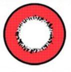 LENTE DE CONTATO VERMELHA ELEMENT - red circle lens donut