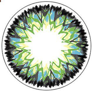 LENTE DE CONTATO VERDE VANILLA SHAKE - circle lens vanilla shake green